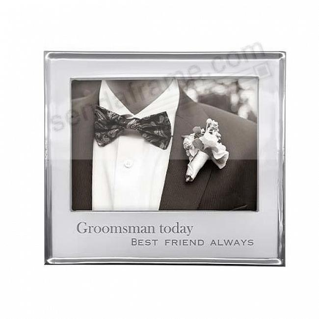 GROOMSMEN TODAY SIGNATURE STATEMENT 7x5 frame by Mariposa®