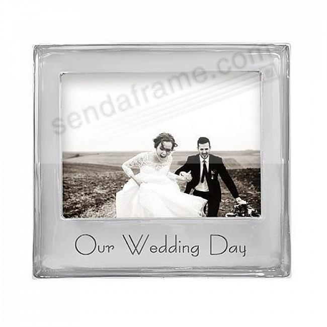 OUR WEDDING DAY SIGNATURE STATEMENT 7x5 frame by Mariposa®