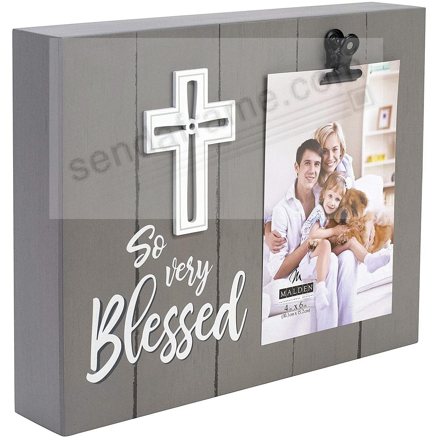 SO VERY BLESSED Clip block frame by Malden®