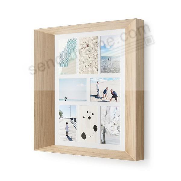 The Original LOOKOUT WALL COLLAGE 18x14/5x7/5x5 in NATURAL Finish by Umbra