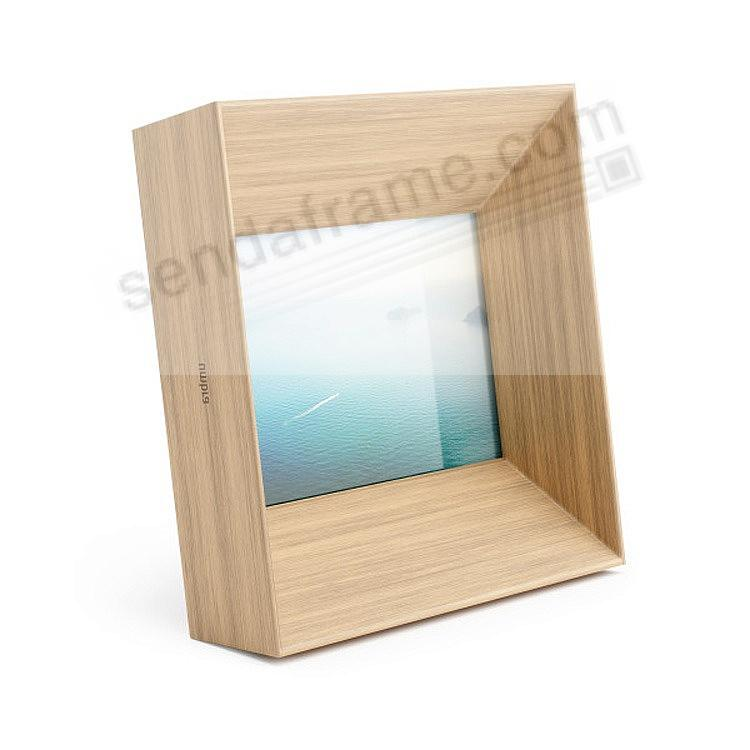 The Umbra® LOOKOUT 4x6 frame in NATURAL stain wood