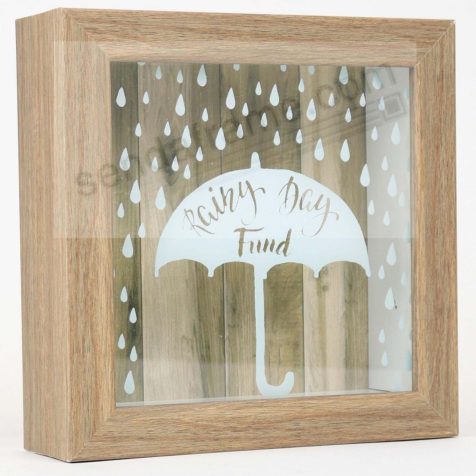 RAINY DAY FUND ShadowBox Bank frame by Lawrence®