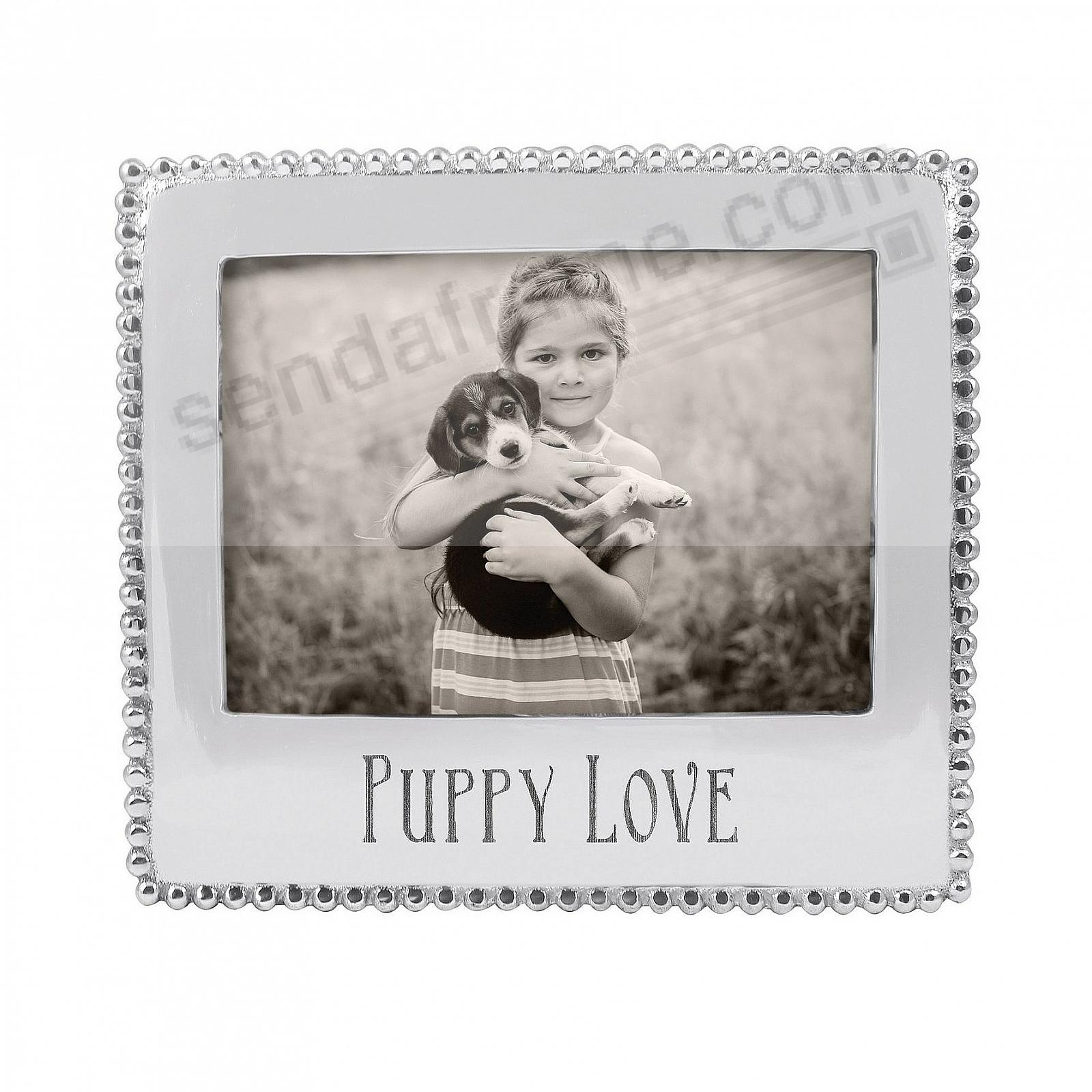 PUPPY LOVE Statement 5x7 frame crafted by Mariposa®