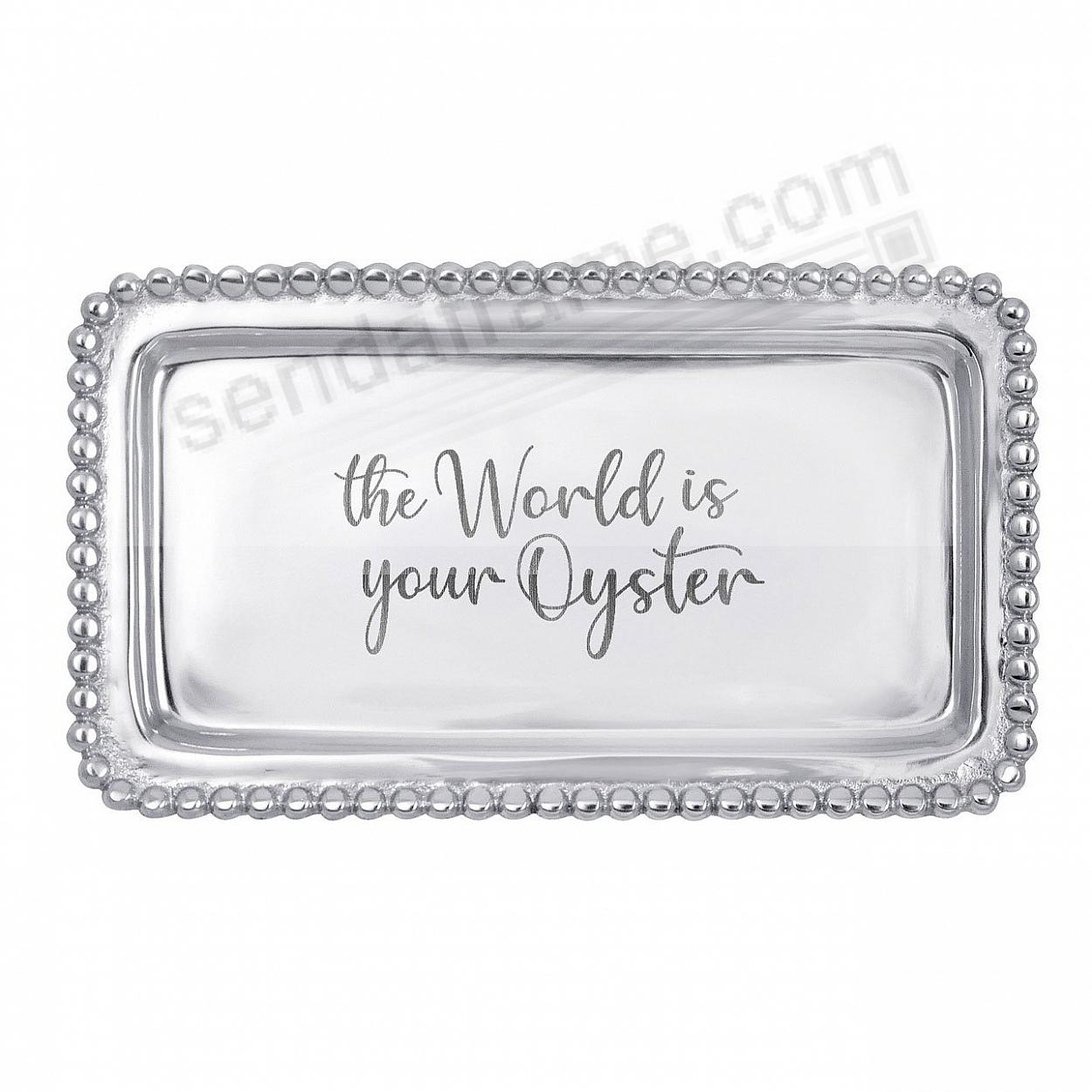 THE WORLD IS YOUR OYSTER 7in Statement Tray crafted by Mariposa®