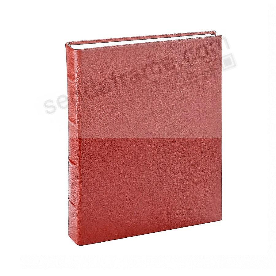 Traditional RED Leather Medium Bound scrapbook-style album<br>by Graphic Image™