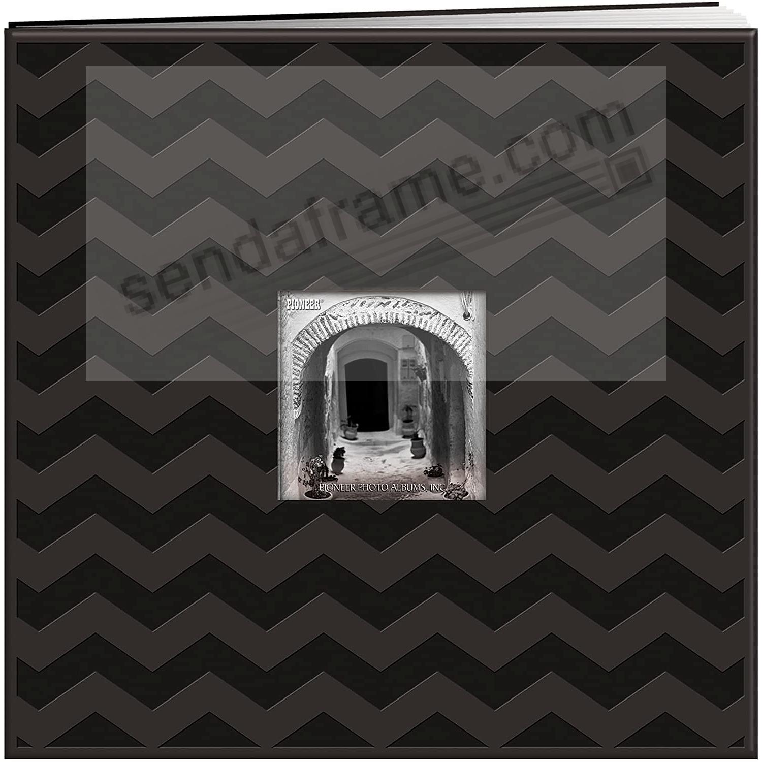 Embossed Black CHEVRON E-Z LOAD 12x12 Scrapbook by Pioneer®