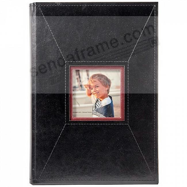 BLACK STITCHED Album by Pinnacle® holds 240/80 3-up 4x6+5x7 photos