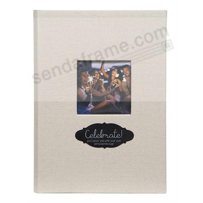 LINEN-CHALK Album by Pinnacle® holds 240/80 3-up 4x6+5x7 photos
