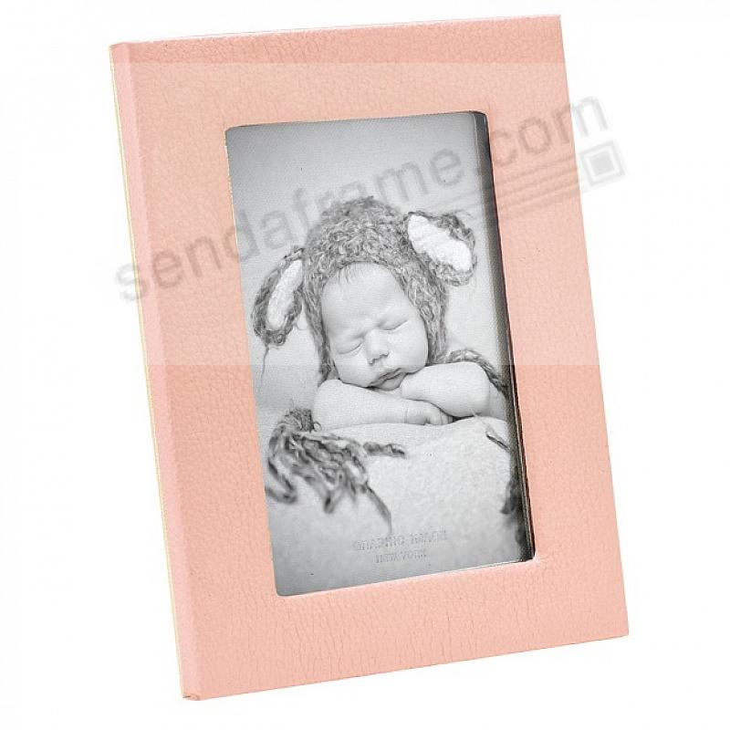 Traditional BLUSH Leather STUDIO 4x6 Frame<br>by Graphic Image™