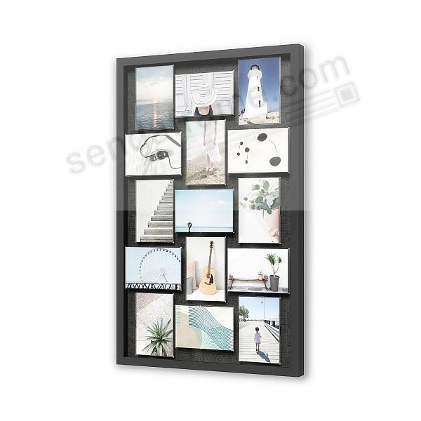 PIXIE MULTI WALL FRAME BLK W/Texture Grain by Umbra®