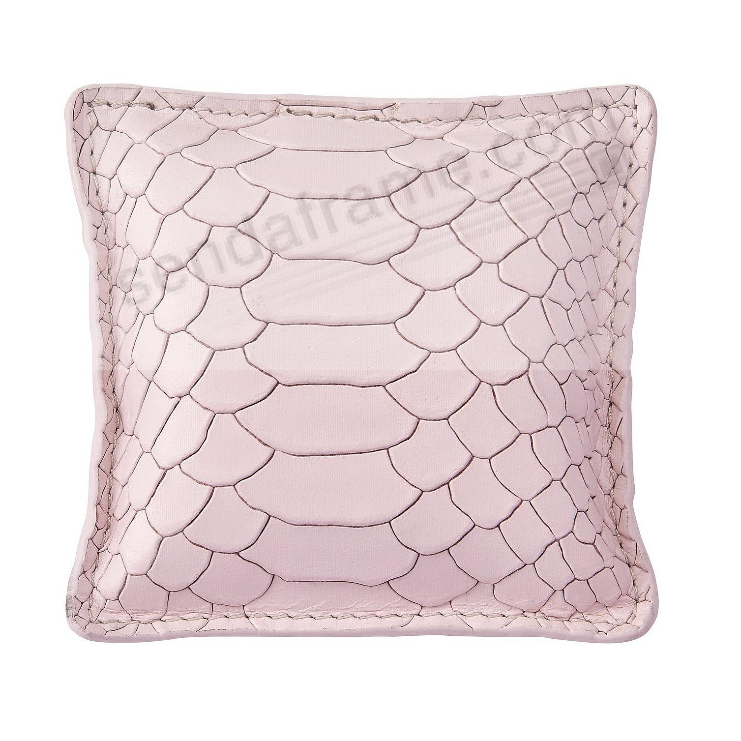Petal-Pink Embossed Leather Paperweight by Graphic Image™