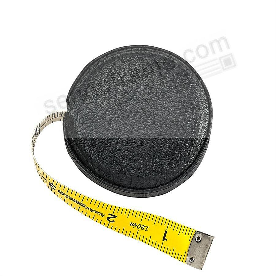 Tape Measure Black Goatskin Leather by Graphic Image™