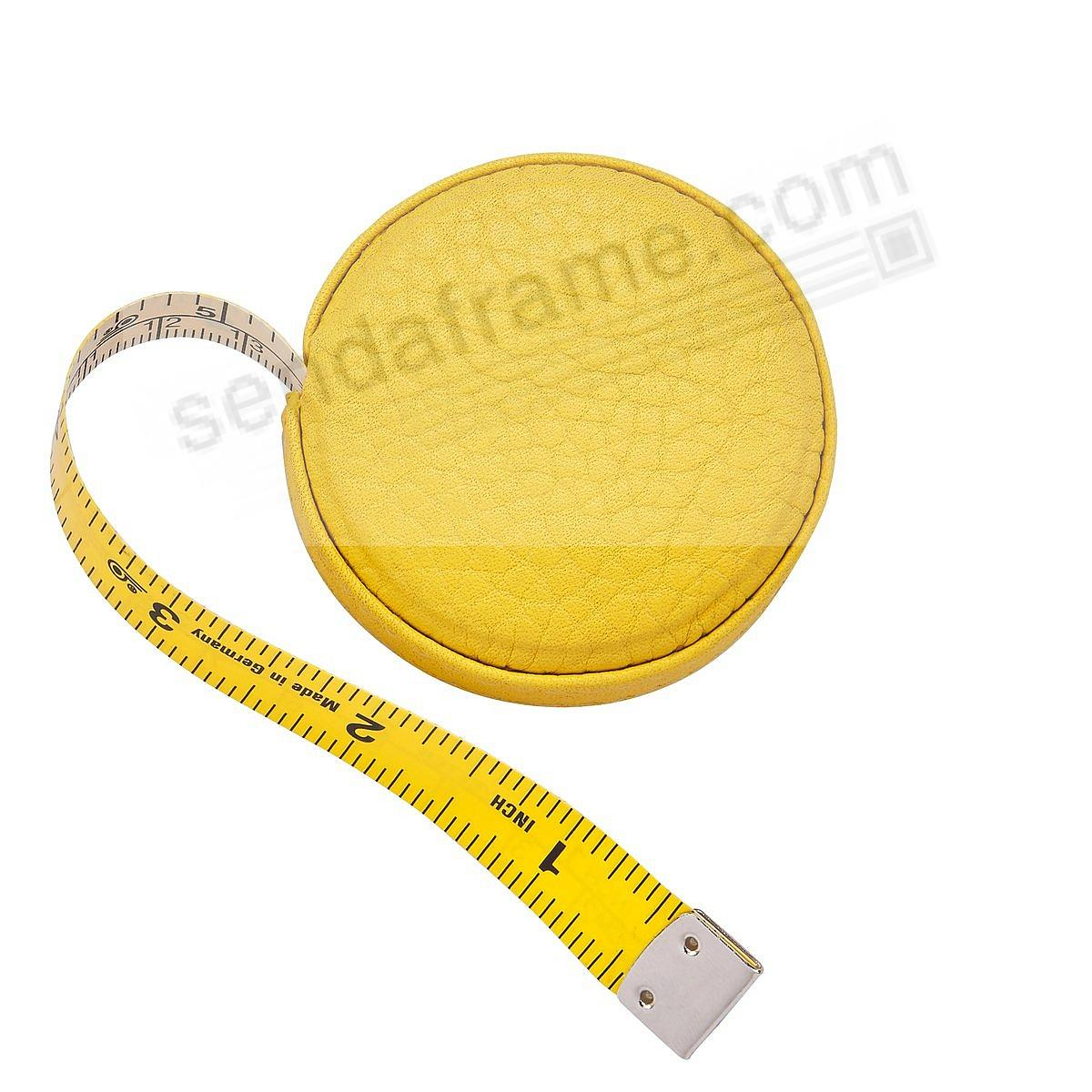 Tape Measure Yellow Pebble-Grain Leather by Graphic Image™
