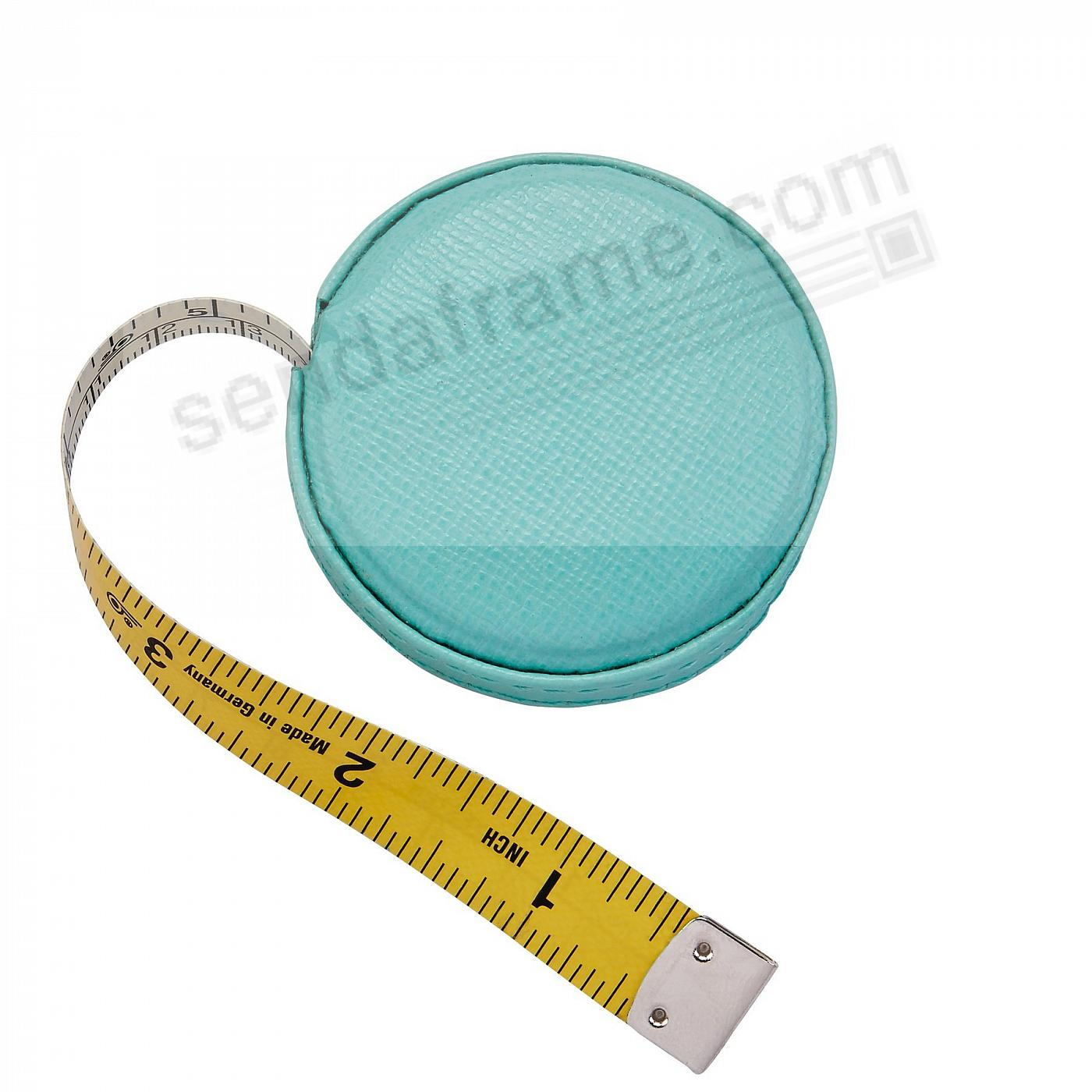 Tape Measure Robins-Egg Blue Embossed Leather by Graphic Image™