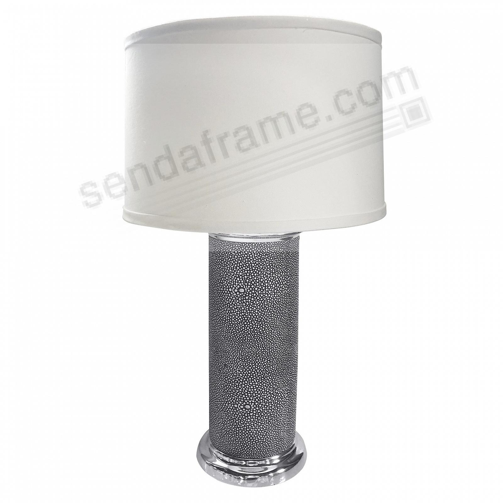Shagreen Column Table Lamp by Mariposa®