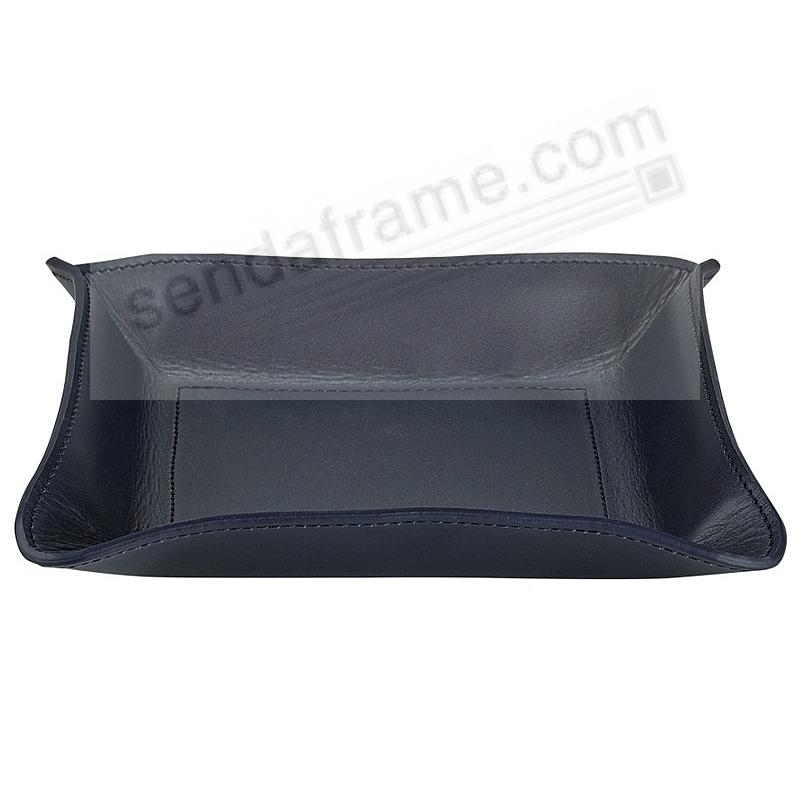 Valet Tray Catchall NAVY-BLUE Leather by Graphic Image™