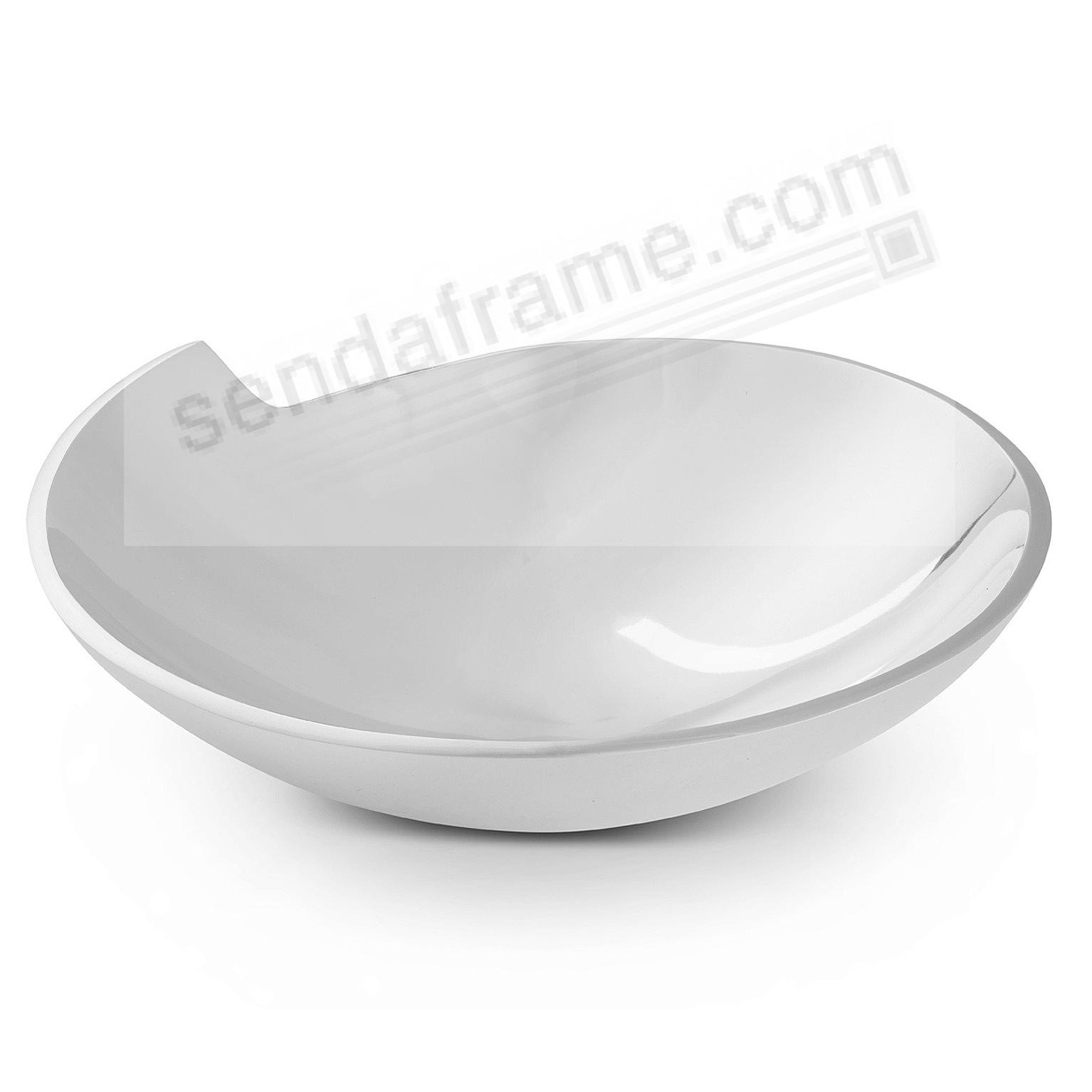 The SPIRAL 10inch SERVING BOWL crafted by Nambe®