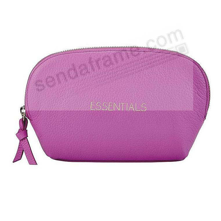ESSENTIALS DOME COSMETIC CASE ORCHID Leather by Graphic Image®