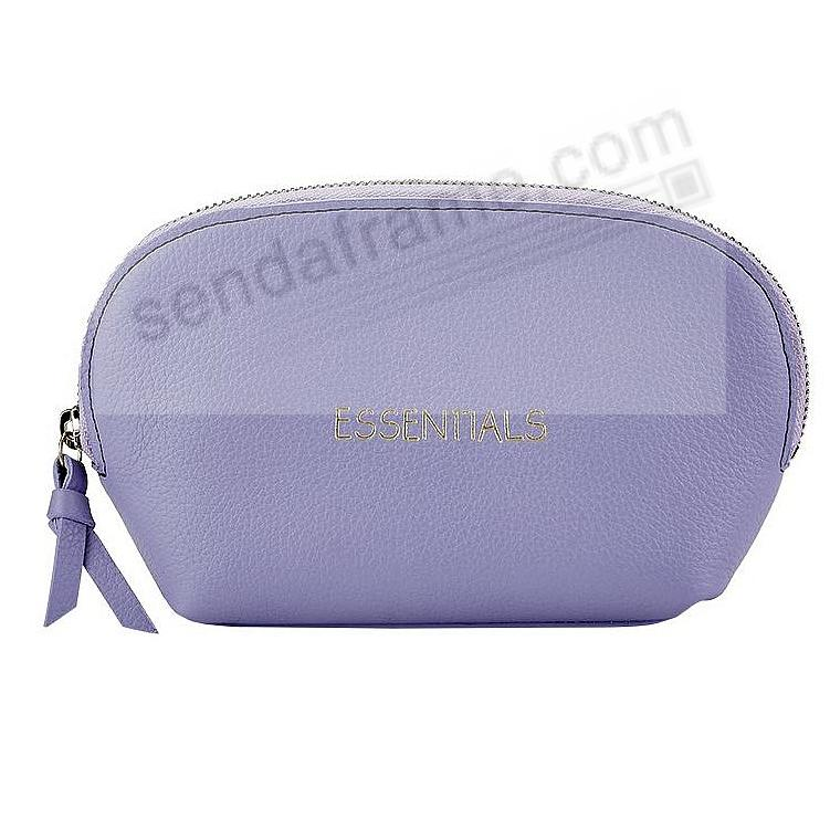 ESSENTIALS DOME COSMETIC CASE LILAC Leather by Graphic Image®