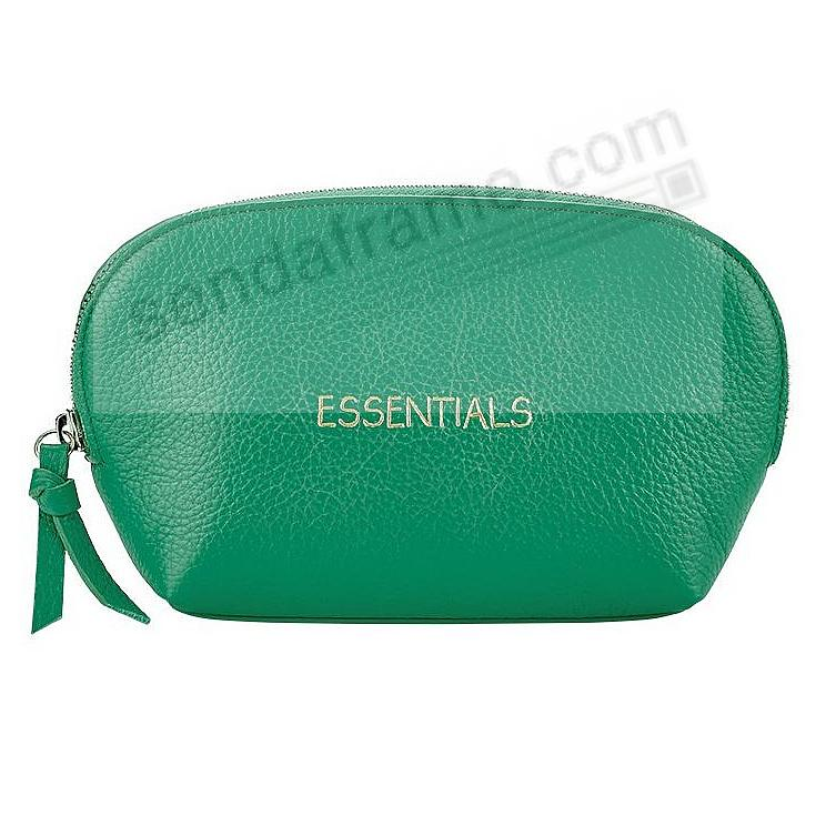 ESSENTIAL DOME COSMETIC CASE JADE Leather by Graphic Image®