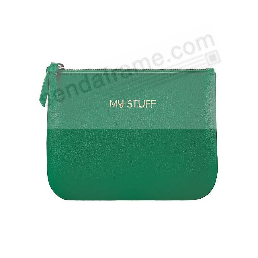 MY STUFF 7in POUCH JADE-GREEN Leather by Graphic Image®