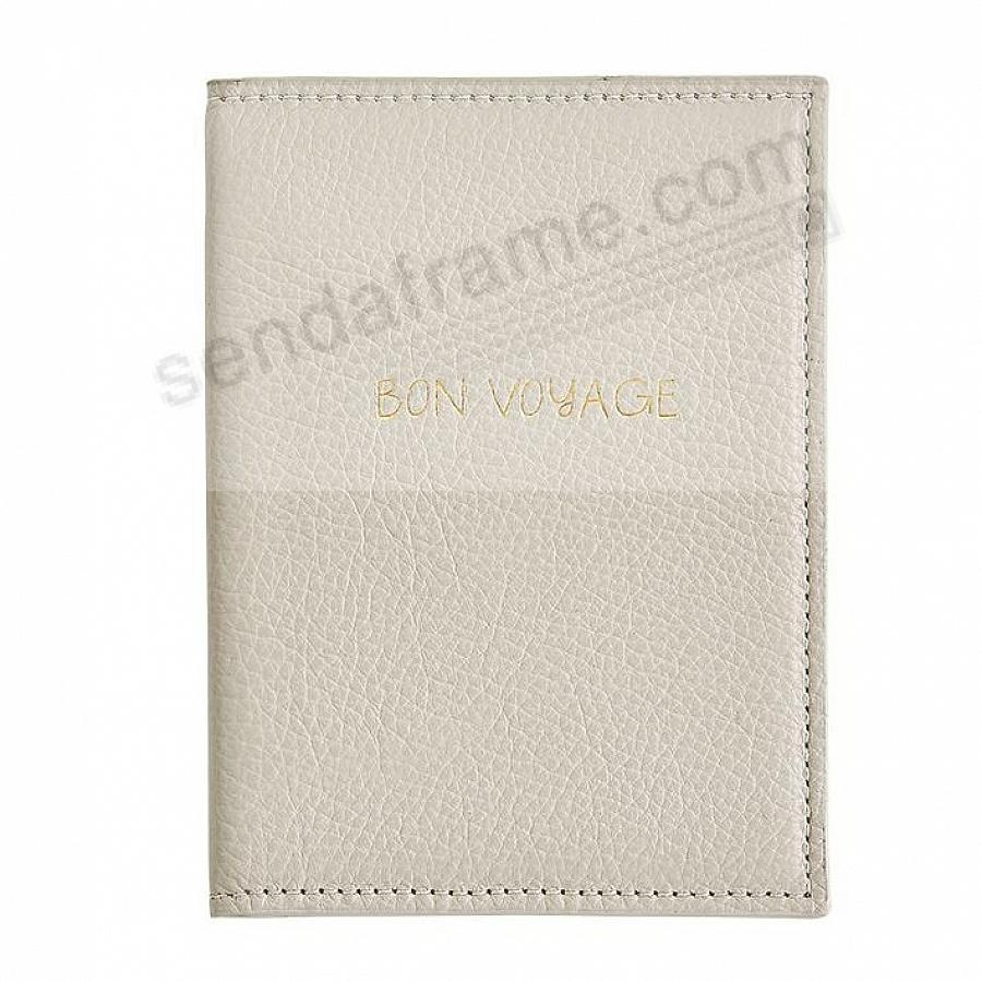 PASSPORT ANGLED HOLDER BONE NAPPA Leather by Graphic Image®