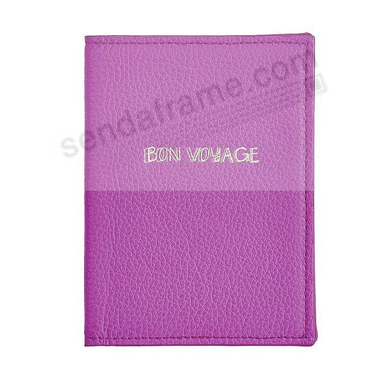 PASSPORT ANGLED HOLDER ORCHID NAPPA Leather by Graphic Image®