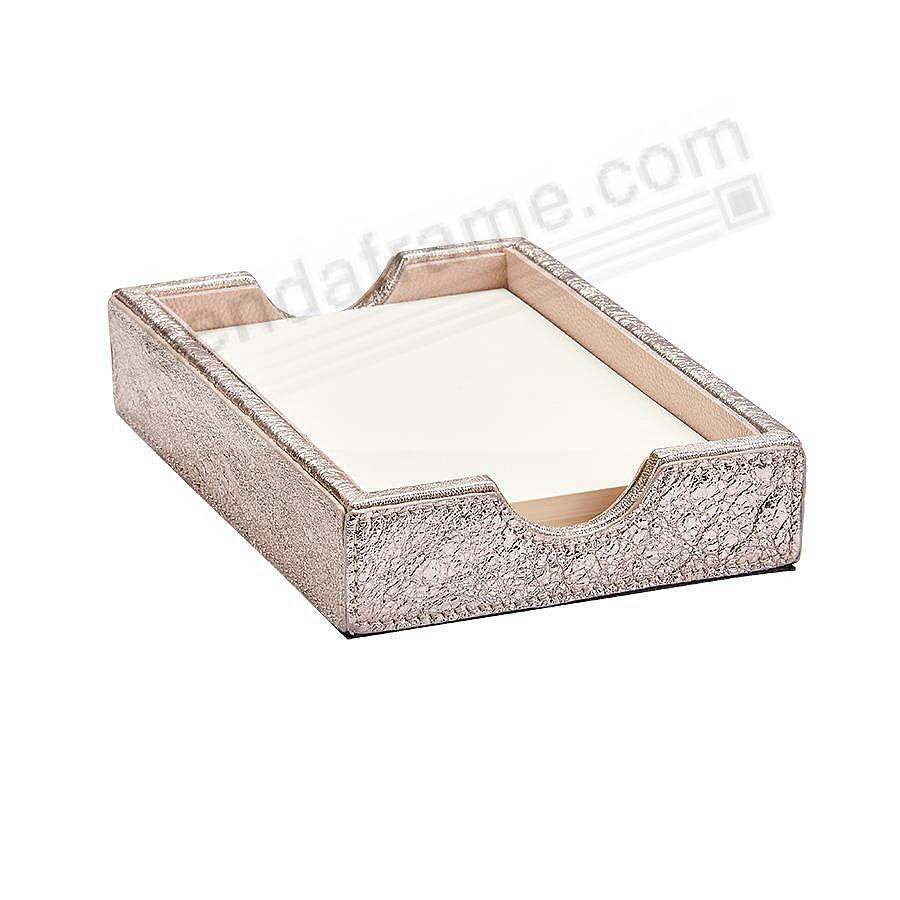 Memo Tray ROSE-GOLD CRACKLE-METALLIC Leather by Graphic Image™