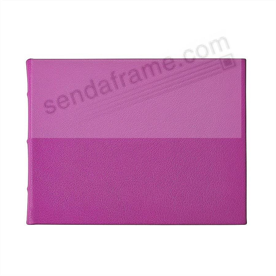 ORCHID Leather BLANK-COVER Guest Registry Book Graphic Image®