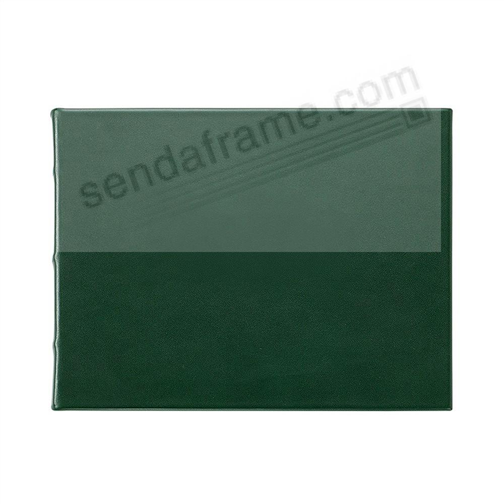 GREEN Leather BLANK-COVER Guest Registry Book Graphic Image®