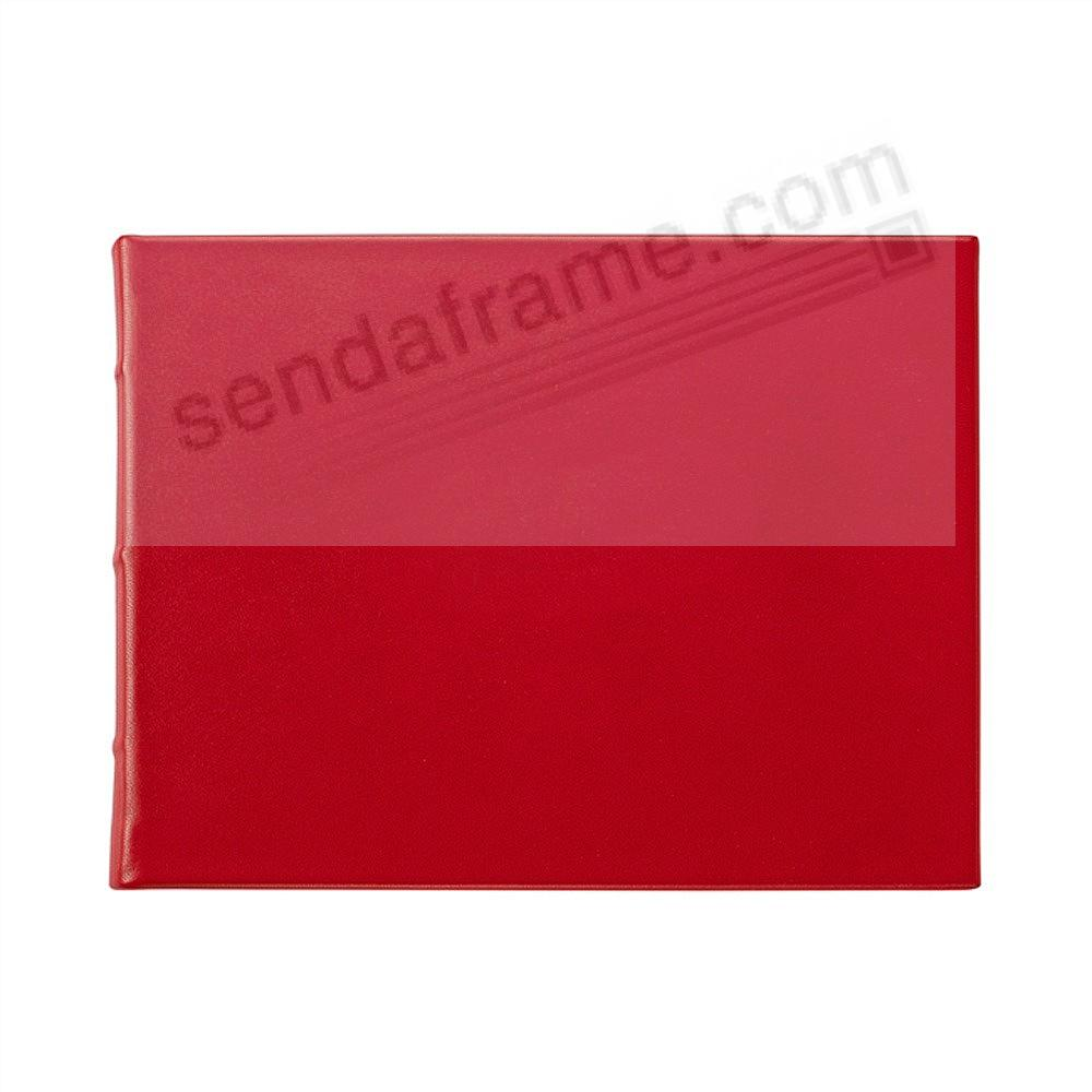 RED Leather BLANK-COVER Guest Registry Book Graphic Image®