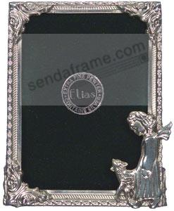 ANGEL & LAMB fine Silvered Pewter frame by Elias Artmetal®