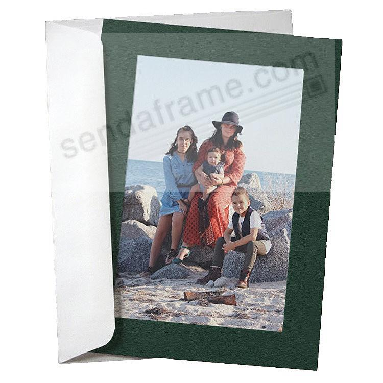 SIMPLICITY FOREST-GREEN Photo Insert Card (sold in 10s)