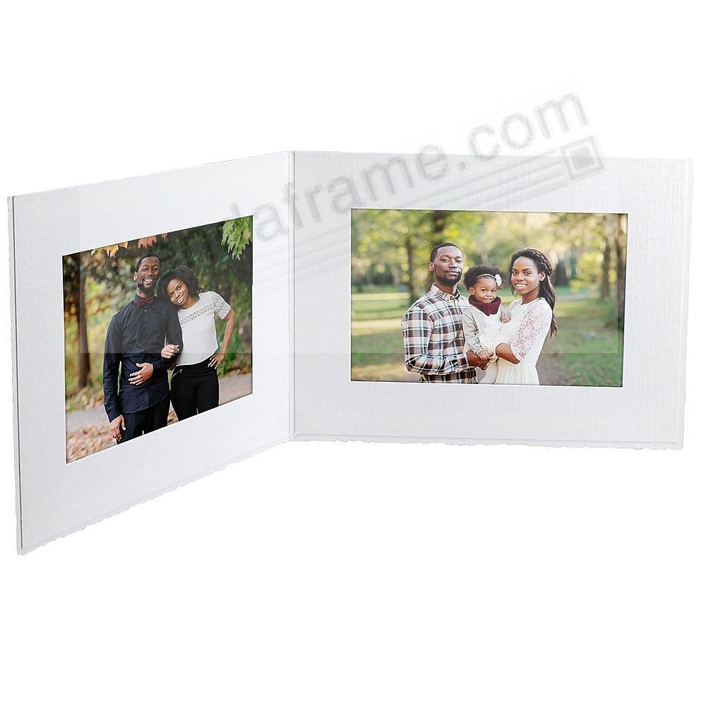 White cardboard double photomount<br>folder 6x4 frame w/plain border (sold in 25s)