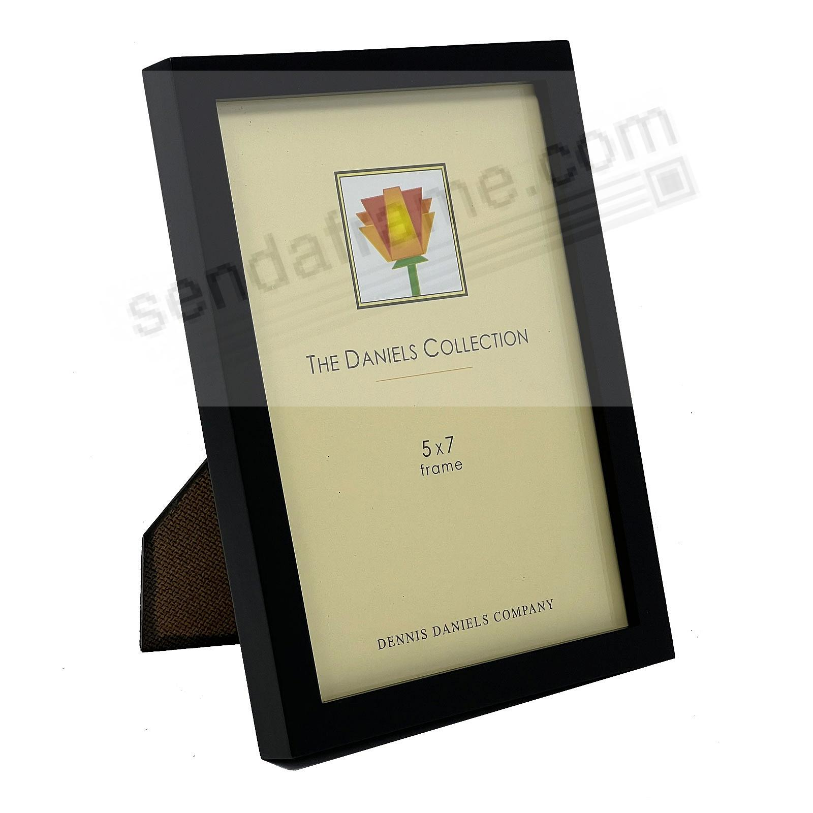 The Original DANIELS W41: Square Corner GALLERY WOODS Black 5x7 by Dennis Daniels®