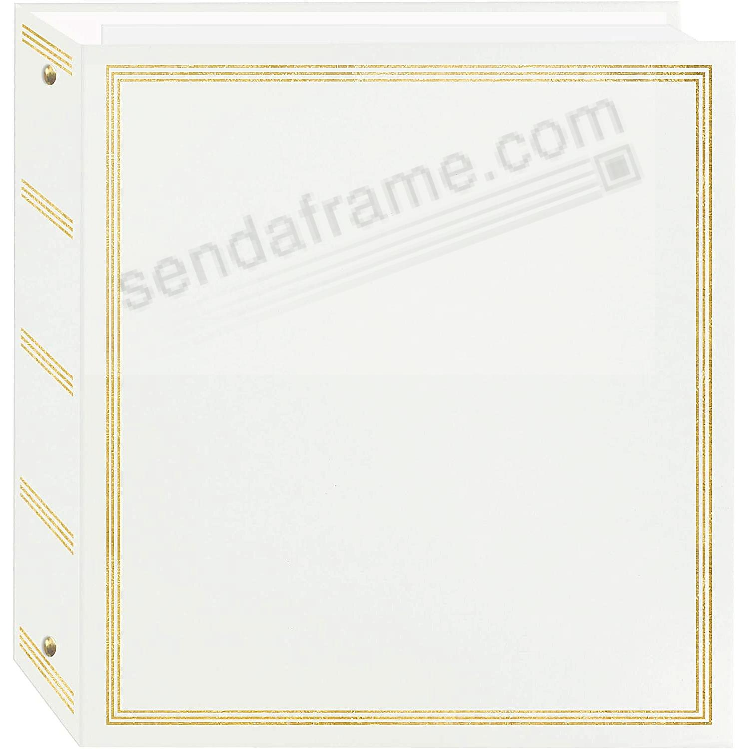 WHITE TR100 Self Adhesive Magnetic 3-Ring Photo Album