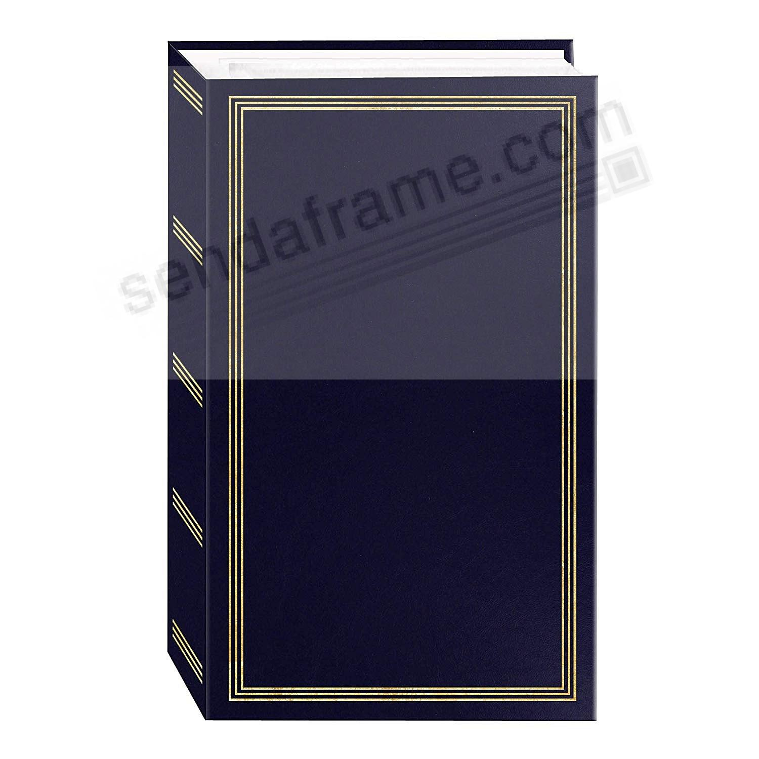 3-ring / 3-up slip-in pocket NAVY-BLUE binder album for 300+ photos