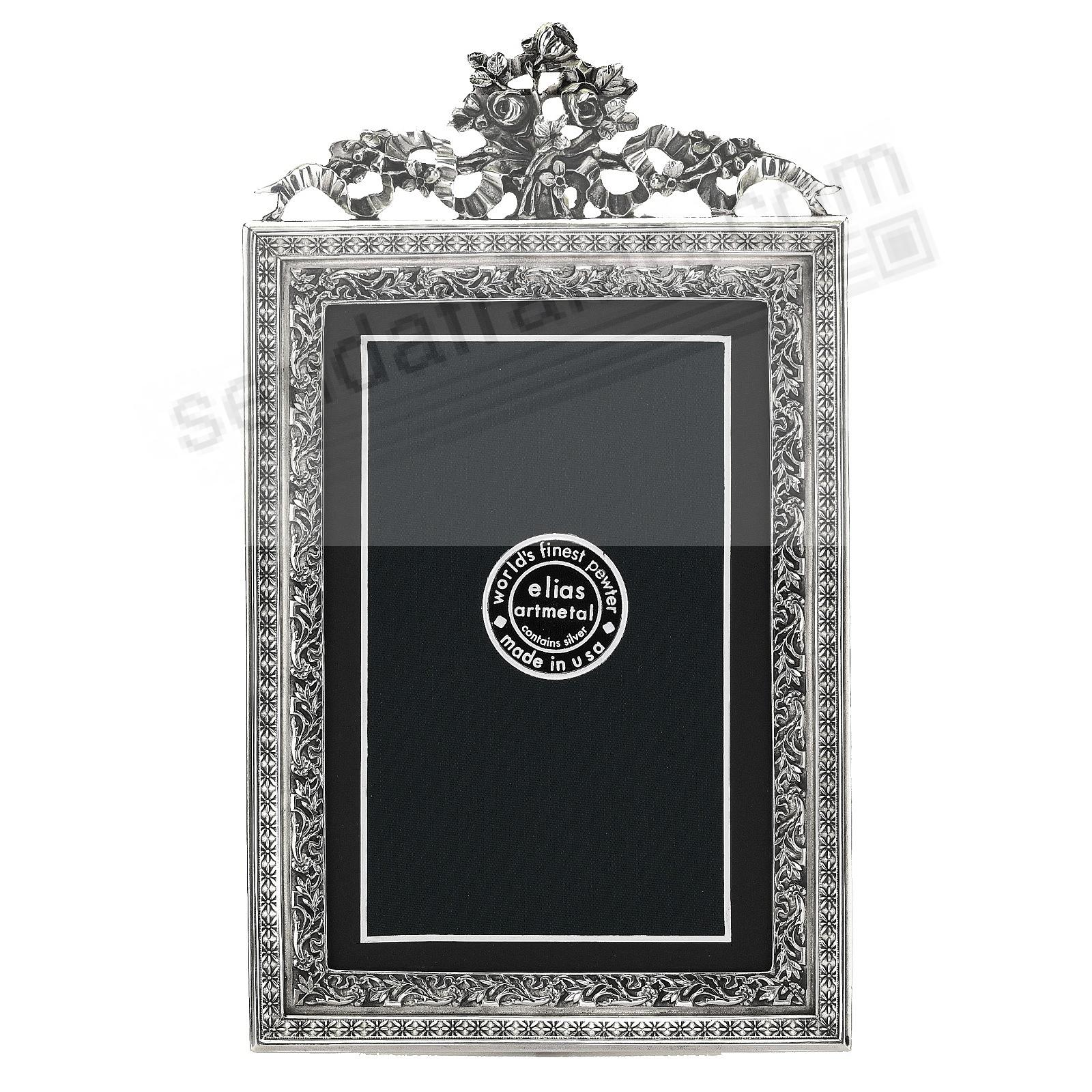VIENNA STAR luxe Fine Pewter 4x6/3x5 frame<br>by Elias Artmetal®
