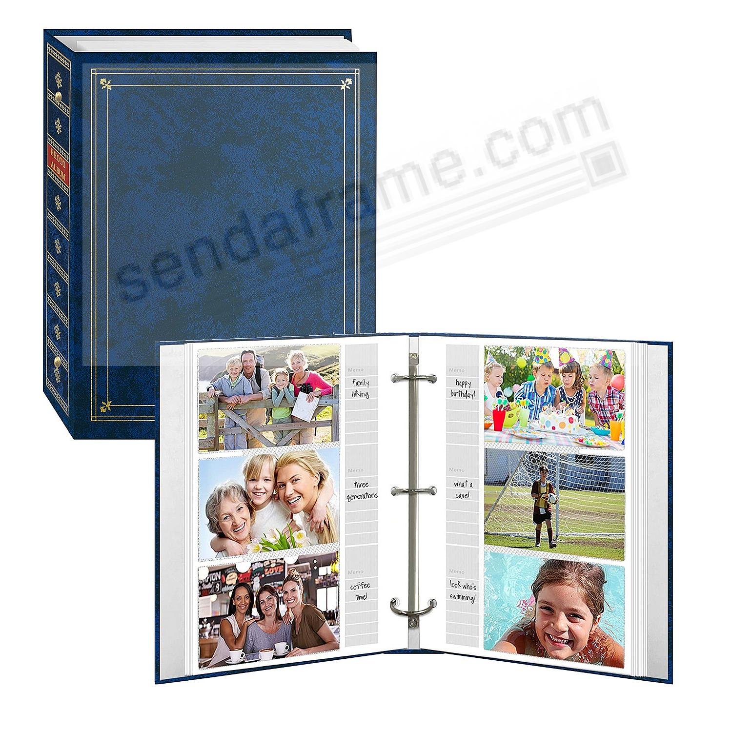 3-ring Royal-Blue album Bi-Directional w/memo area for 4x6/5x7/8x10 photos by Pioneer®