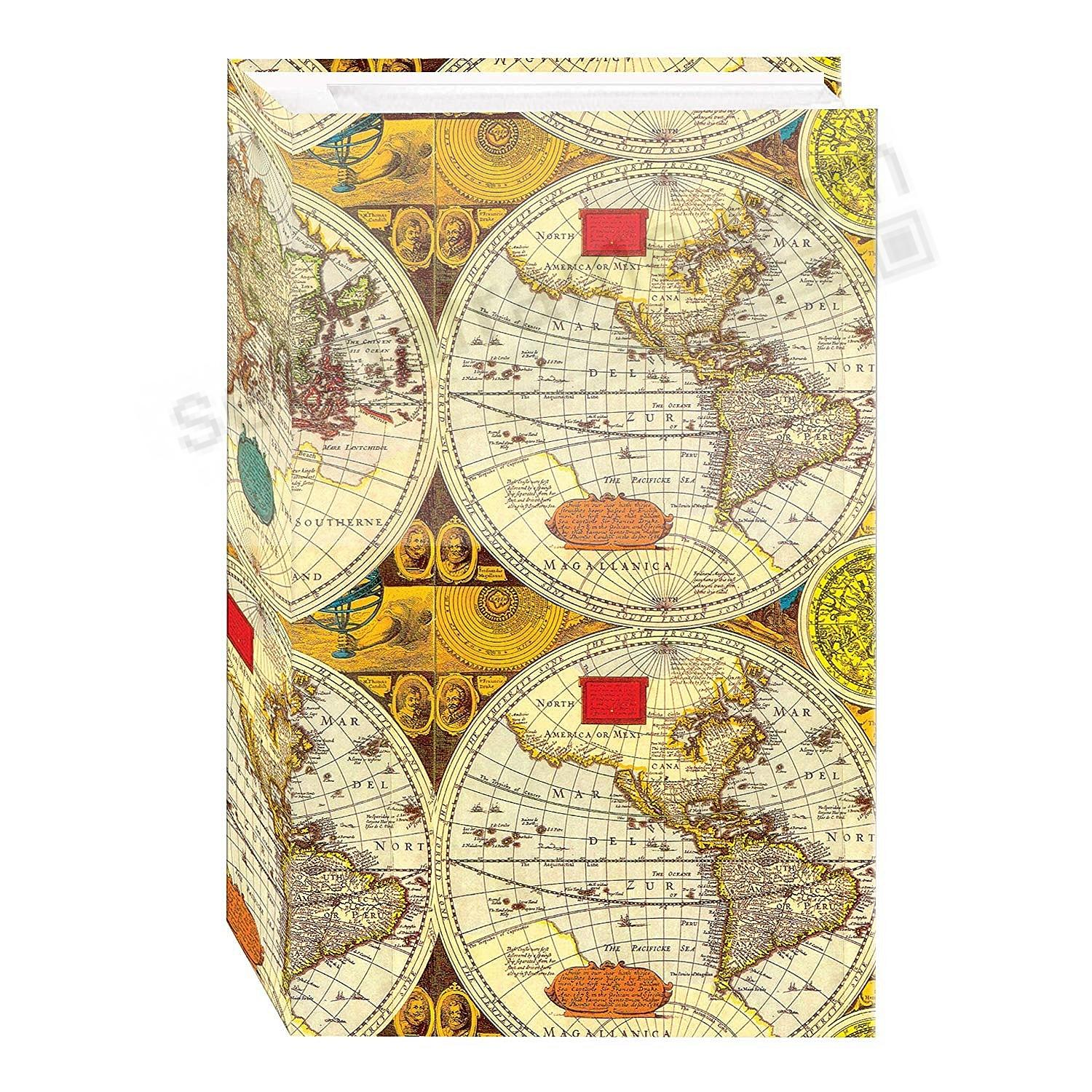 3-ring 3-up slip-in pocket ANCIENT WORLD MAP album ready for 500+ photos