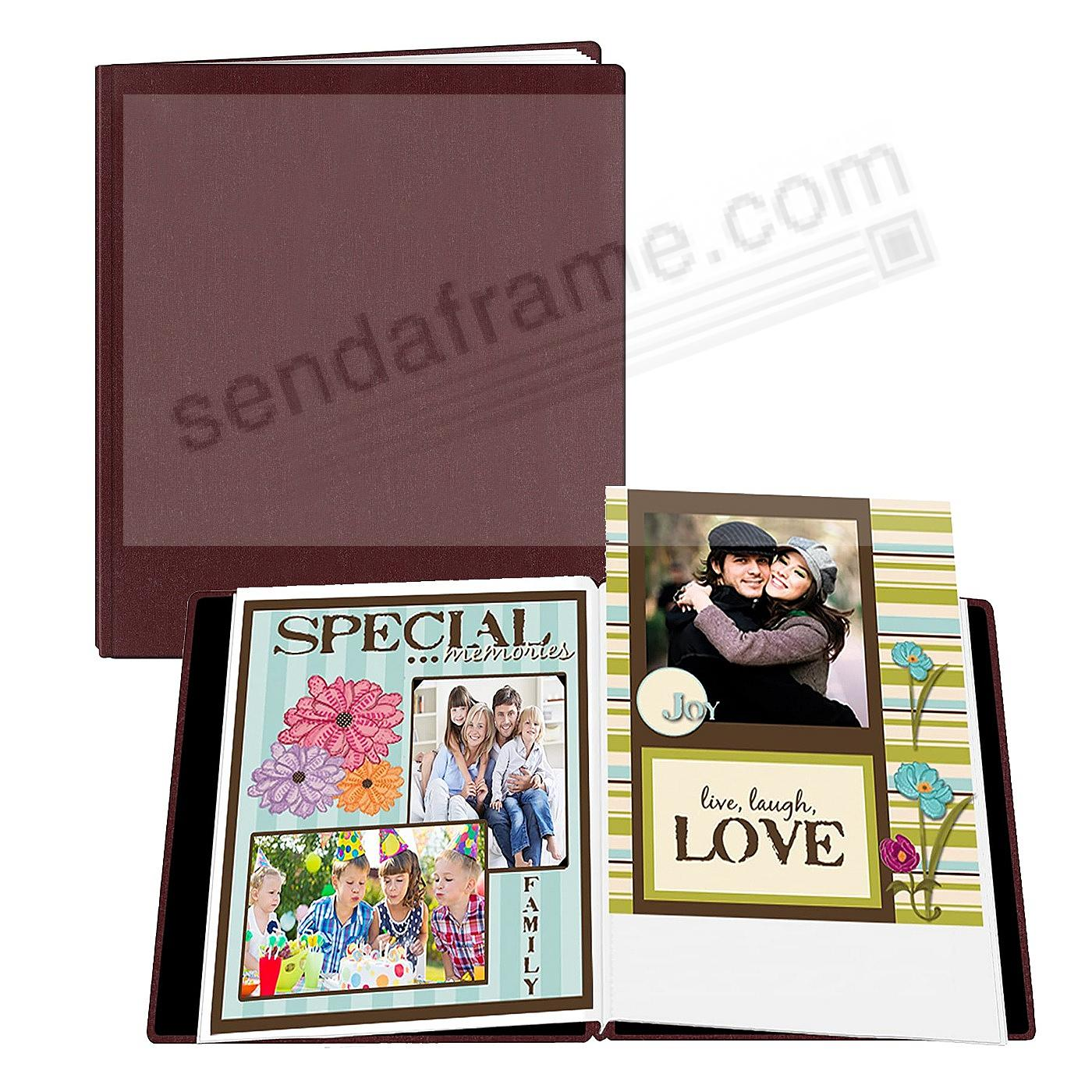 Family Treasures Deluxe 12x15 Bordeaux Scrapbook by Pioneer® - Huge Capacity!