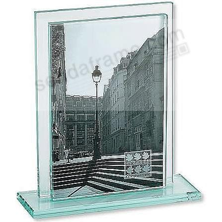 Deco Solid Glass Sleeve With Base Floats Your 8x10 Photo